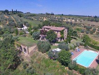 Le Balze Rosse è una bellissima dimora Toscana con un delizioso giardino privato