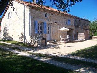 Charming  stone barn  private heated pool in the heart of Dordogne Perigord