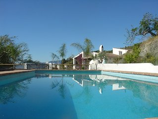 Original Mediterranean villa with amazing view and tropical swimming pool.
