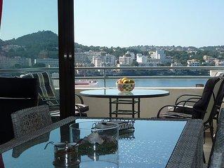 Modernes Apartment mit Gemeinschaftspool und Meeresblick in Santa Ponsa