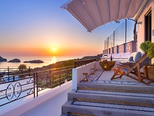 Brand New!!! Lindos shore Superior Studio just above Lindos main beach !!!