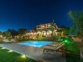 Amalthia 7-Bedroom Private Pool Villa in Mouzaki Zakynthos