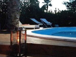 villa a galatina con giardino e piscina