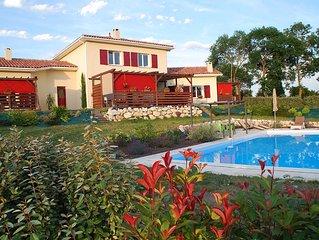 La Benjamine is een zeer comfortabel vakantiehuis gelegen in de Gers.