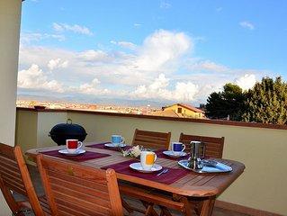Casa Sa Bertula al 1° piano con 2 camere,  veranda panoramica e ampio soggiorno