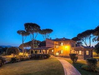 LUXURY COUNTRY HOUSE near ROME - swimming pool, turkish baths, sauna, gym and...