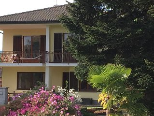 Spacious family home, large garden and on the shores of Lago Maggiore
