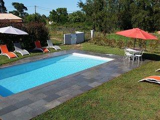 Villa de 70m2 avec piscine privee 8X4 cloturee toute equipee