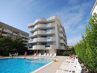 Residence Eurostar, bilocale, 5 posti letto, piscina, wifi, lavastoviglie