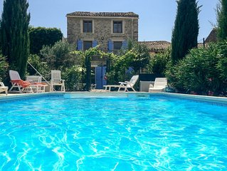 Village house with private pool, Minervois,  Languedoc Sleeps 10