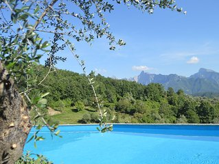wonderful chalets in the unspoiled nature of north Tuscany ,  private pool & SPA