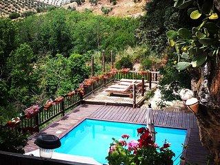 Rural, piscina, rio, 1-8, Andalucia,WIFI,jacuzzi, Alhambra,senderismo