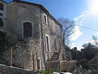 Beautiful stone house, high in the medieval mountain village of Roccacasale