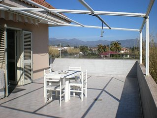 Apartment in a residence near the sea, with splendid view of Mt Etna and Taormi