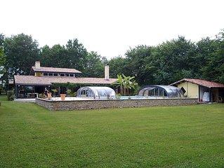 Villa néo-provençale mer piscine privée calme parc fermé