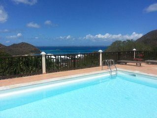 Beautiful villa with pool and views of the Caribbean Sea