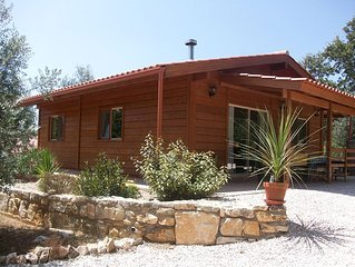 Beautiful Wooden Lodge Set In Olive Grove With Shared Pool.Close To Amenities