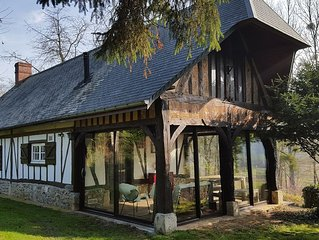 Charming Norman house of the 18th in the river 150 km from Paris