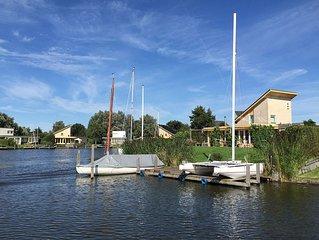 Vakantievilla aan het water van de Friese Meren