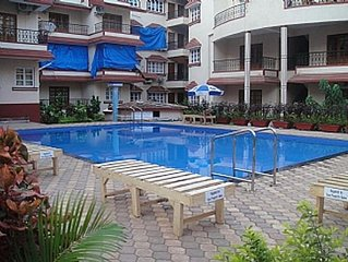 Calangute, Goa, Kyle Gardens, Ground floor Apt within beautiful complex