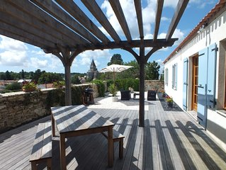 Recently Built Hillside House on the edge of a small town in South Vendee