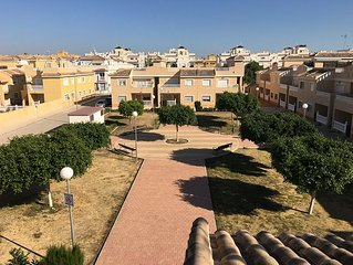 Holiday apartment with large private roof terrace