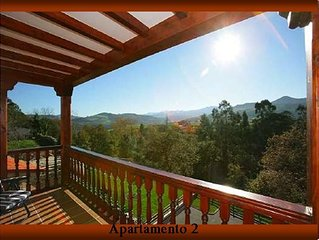 Cottage divided in apartm. 4 to 14 people, to the beach 2.5 Km. to Picos 20 Km.