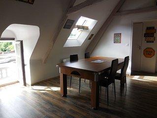 bel appartement plein de charme sur le port de Dinan ,Bretagne France
