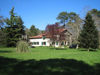 Rare forest house (1290ft2, bedroom 485ft2), untouched nature with swimming lake
