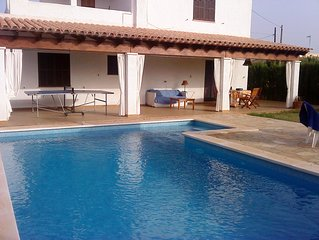 Villa with pool and garden close to the best virgin beaches of Mallorca