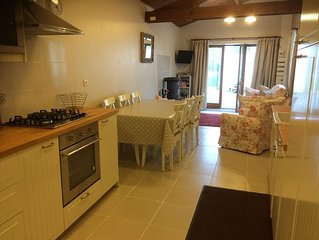 View from kitchen to lounge