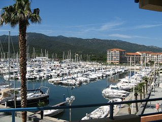 Apartment with Spectacular Views overlooking the  marina and Pyrenees foothills