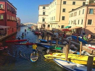 alloggio in centro a Chioggia con vista strepitosa