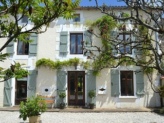 Restored French Farmhouse With Private  Garden and Pool