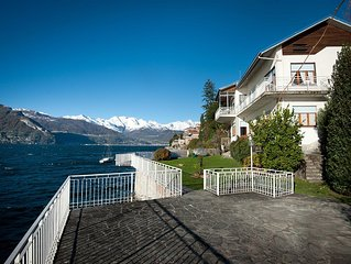 Amazing apartm. in Villa on Como lake sleep 7  family friendly pets allowed wifi