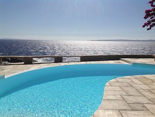Luxury Waterfront Villa with Private Pool, few steps away from a secluded  beach