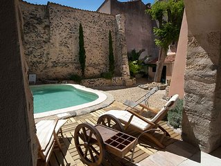 18th Century townhouse in delightful wine making village 20 minutes from the sea