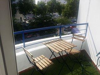 Bonito, soleado y tranquilo apartamento. Con Wifi, tv con todo el futbol