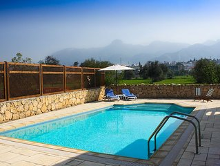 beautifully designed villa with outstanding mountain views
