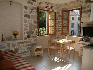 Character well equipped (left) studio apartment in historic Kotor centre