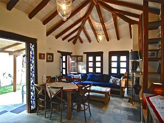PELION HOMES | STONE HOUSE  charming villa with amazing view for 2-4 guests