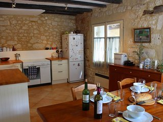 200-Year-Old Stone House In Lovely Medieval Market Village - Dordogne SW France