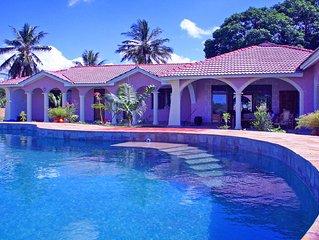 Oceanfront Villa In North Coast Near Mombasa | Staff, 16m Pool, 6000m² Park, A/C