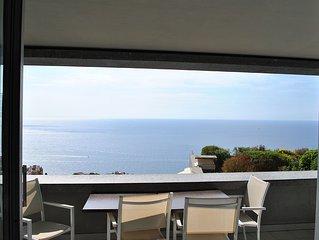 Sea view apartment, infinity pool, sleeps 4-6 people, 5 minutes from Monaco