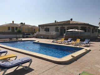 Luxury 6 Bedroom 3 Bathroom villa with large private swimming pool next to Golf