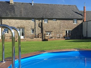 Large countryside cottage with shared heated pool.  Free WIFI, ferry discounts