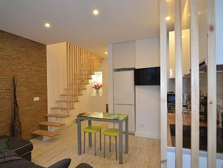 new duplex with bedroom, living room and kitchen