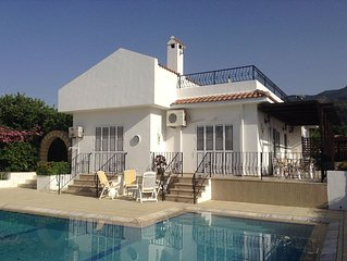 Luxury Detached 3 Bed Villa with Large Pool & Stunning Gardens in Quiet Location