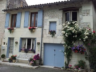 La Maison du Bonheur is in the heart of the beautiful Village of Bourg-Charente