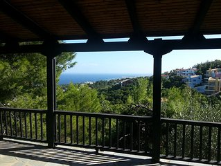 Sea View Villa Stella - 5' from beach close to Athens + airport exquisite views!
